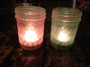 Jelly Jar Tea Light CandleHolders