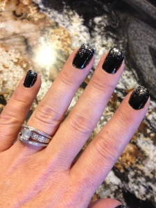 Black and Silver Gradient Nail Paint/Nail Fireworks